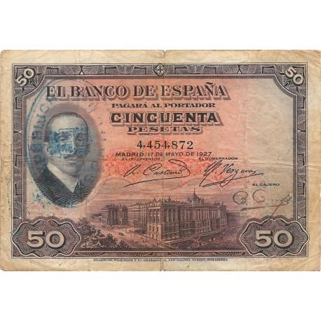 50 Pesetas del 17 de Mayo de 1927