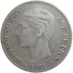 5 Pesetas de 1881