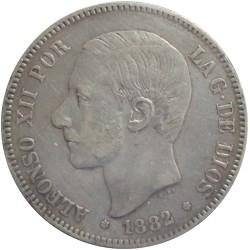 5 Pesetas de 1882 (Variante Estrella 18-81)