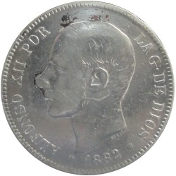 5 Pesetas de 1882