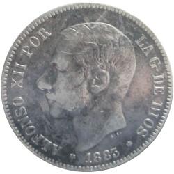 5 Pesetas de 1883