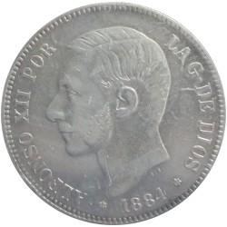 5 Pesetas de 1884