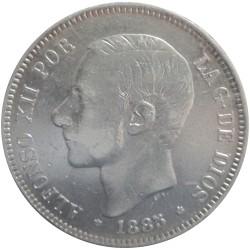 5 Pesetas de 1885