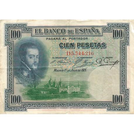 100 Pesetas del 1 de Julio de 1925