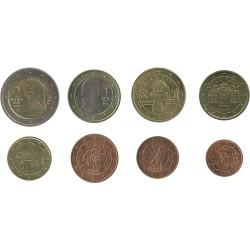 Tira de 8 Monedas de Austria
