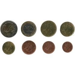 Tira de 8 Monedas de Finlandia