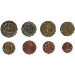 Tira de 8 Monedas de Grecia