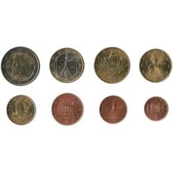 Tira de 8 Monedas de Italia
