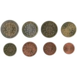 Tira de 8 Monedas de Portugal