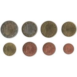 Tira de 8 Monedas de Luxemburgo