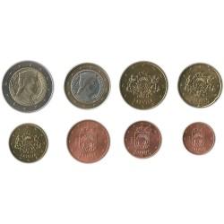 Tira de 8 Monedas de Letonia