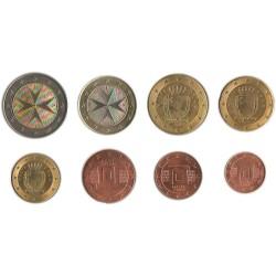 Tira de 8 Monedas de Malta