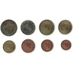 Tira de 8 Monedas de Estonia