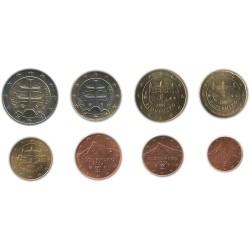 Tira de 8 Monedas de Eslovaquia