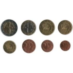 Tira de 8 Monedas de Chipre