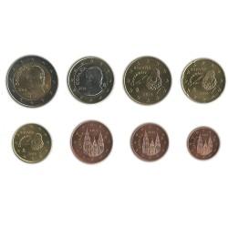 Tira de 8 Monedas de España