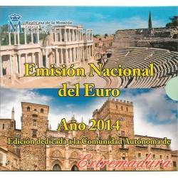 Cartera de 8 Valores de España del 2014 de Extremadura