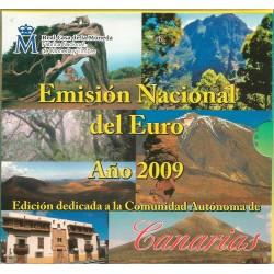 Cartera de 8 Valores de España del 2009 de Canarias