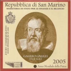 Cartera de 2 Euros de San Marino del 2005