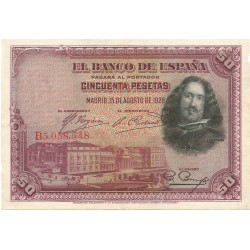 50 Pesetas del 15 de Agosto de 1928
