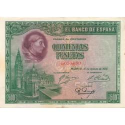 500 Pesetas del 15 de Agosto de 1928
