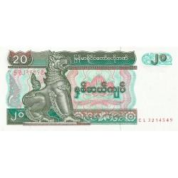 20 Kyats de 1994